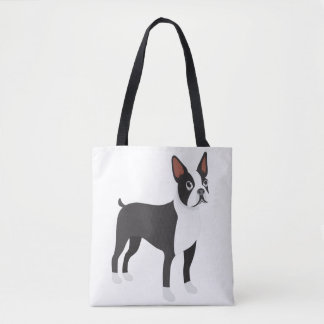 Bolsa Tote Sacola de Boston Terrier