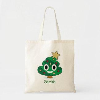 Bolsa Tote Sacola de Emoji do tombadilho da árvore de Natal
