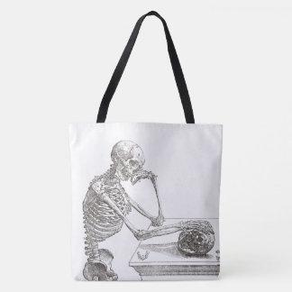 Bolsa Tote Sacola de esqueleto melancólica