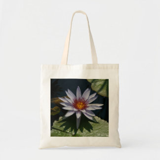 Bolsa Tote Sacola de Lotus branco Waterlily