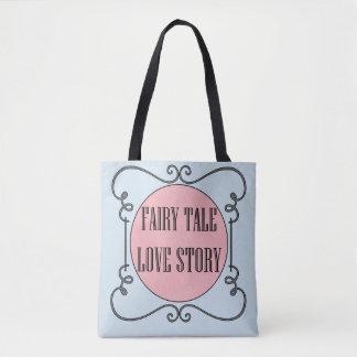 Bolsa Tote Sacola de Love Story do conto de fadas