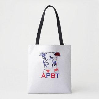 Bolsa Tote Sacola de Pitbull Terrier do americano
