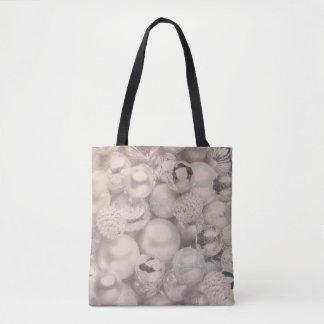Bolsa Tote Sacola de prata do feriado de inverno do ornamento