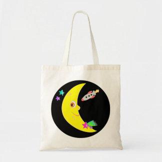 Bolsa Tote Sacola de Rocket da lua dos desenhos animados