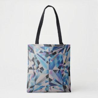 Bolsa Tote Sacola de vidro do impressão do diamante toda
