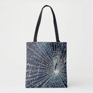 Bolsa Tote sacola de vidro rachada