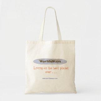 Bolsa Tote Sacola de WorldsWays