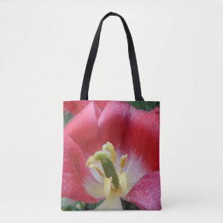 Bolsa Tote Sacola descomedido da flor da tulipa