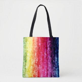 Bolsa Tote Sacola digital do impressão dos cristais abstratos
