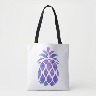 Bolsa Tote Sacola do abacaxi da aguarela
