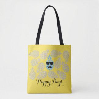 "Bolsa Tote ""Sacola do abacaxi dos dias felizes"""