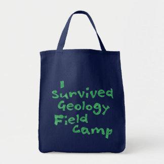 Bolsa Tote Sacola do acampamento do campo da geologia