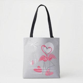 Bolsa Tote Sacola do amor do flamingo