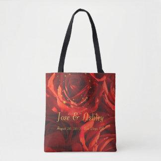 Bolsa Tote Sacola do buquê das rosas vermelhas
