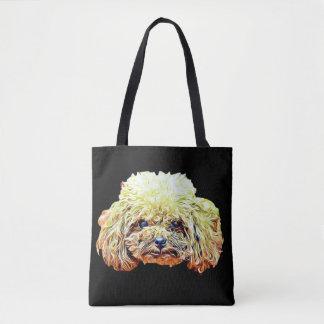 Bolsa Tote Sacola do cão de caniche do brinquedo
