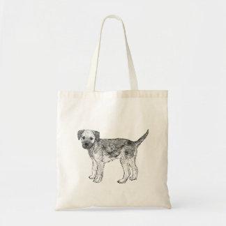 Bolsa Tote Sacola do cão - design de Terrier de beira