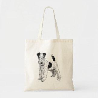 Bolsa Tote Sacola do cão - design do Fox Terrier