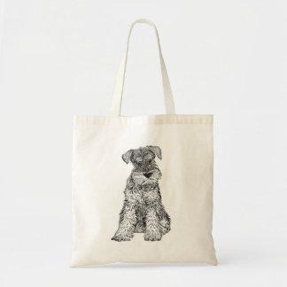 Bolsa Tote Sacola do cão - design do Schnauzer