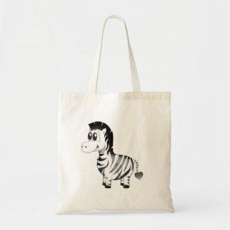 "Bolsa Tote ""Sacola do caráter da zebra do selo pequeno do"
