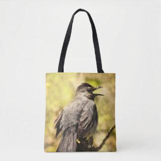 Bolsa Tote Sacola do Catbird cinzento do canto