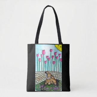 Bolsa Tote Sacola do coelho do jardim