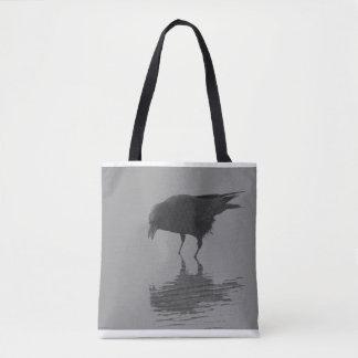 Bolsa Tote Sacola do corvo de Edgar Allan