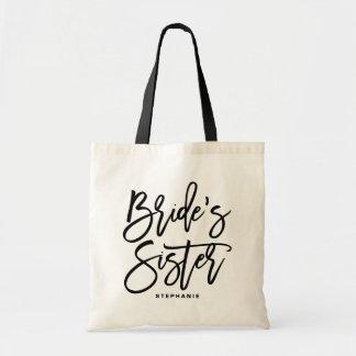 Bolsa Tote Sacola do costume da irmã da noiva da rotulação da
