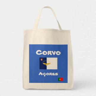 Bolsa Tote Sacola do costume de Corvo Açores