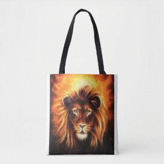 Bolsa Tote Sacola do design da cabeça do leão