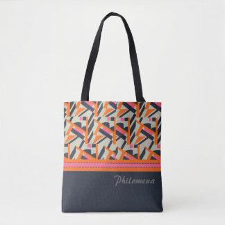 Bolsa Tote Sacola do design do art deco