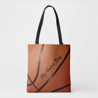 Bolsa Tote Sacola do design do basquetebol