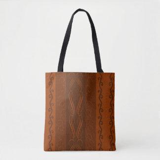 Bolsa Tote Sacola do design do chocolate
