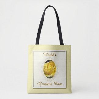 Bolsa Tote Sacola do dia das mães do rosa amarelo