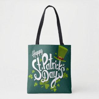 Bolsa Tote Sacola do dia de St Patrick feliz