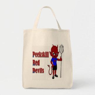 Bolsa Tote Sacola do diabo vermelho de Peekskill