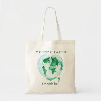 Bolsa Tote Sacola do ecologista da Mãe Terra de Hugger da