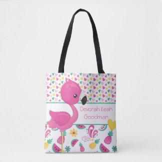 Bolsa Tote Sacola do flamingo - personalizada