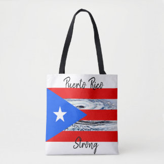 Bolsa Tote Sacola do furacão da bandeira de Puerto Rico