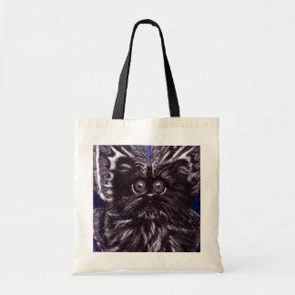 Bolsa Tote Sacola do gato da traça do gato preto