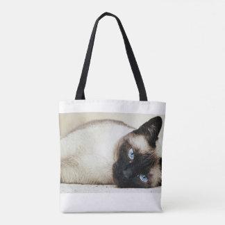 Bolsa Tote Sacola do gato Siamese