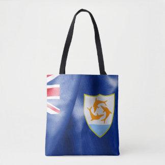 Bolsa Tote Sacola do impressão da bandeira de Anguilla toda