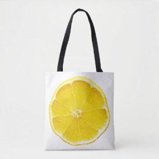 Bolsa Tote Sacola do impressão da fatia do limão toda sobre -