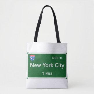 Bolsa Tote Sacola do impressão da Nova Iorque toda sobre -