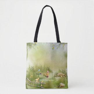 Bolsa Tote Sacola do impressão da paisagem da páscoa toda