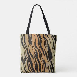 Bolsa Tote Sacola do impressão da pele do tigre