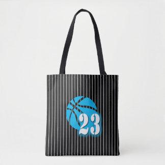 Bolsa Tote Sacola do impressão do basquetebol 23 toda sobre -