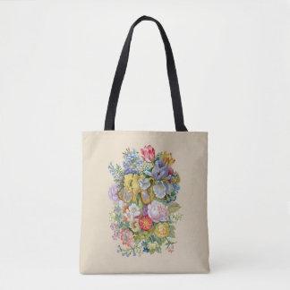 Bolsa Tote Sacola do impressão do buquê da flor toda sobre -