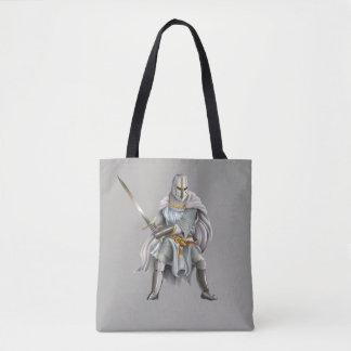 Bolsa Tote Sacola do impressão do cavaleiro do cruzado toda