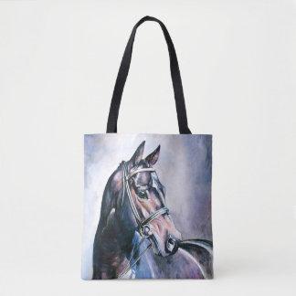 Bolsa Tote Sacola do impressão do cavalo da aguarela toda