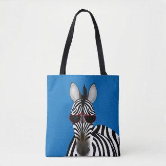 Bolsa Tote Sacola do impressão do costume da zebra toda sobre